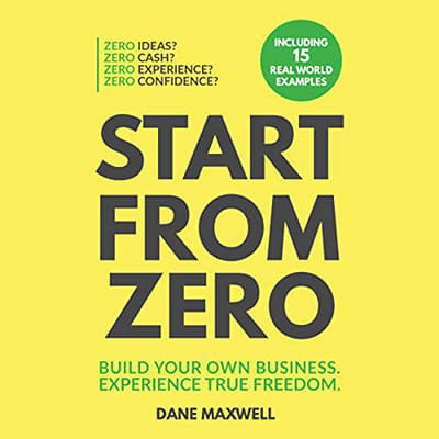Start from Zero audiobook cover, black letters on the yellow background